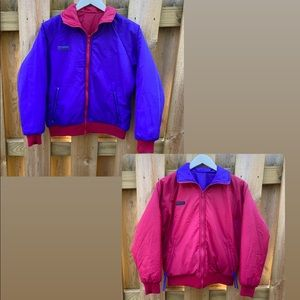 Vintage COLUMBIA reversible Purple Pink Coat